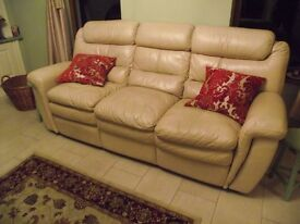 THREE PLUS TWO SEATER LEATHER RECLINERS