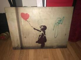 Banksy canvas quality canvas stunning design from the graffiti artist / wall hanging / canvas