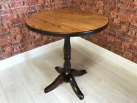 Light & Dark Oak Circular Top Bar Table