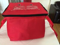 HOT FOOD DELIVERY BAG FULLY INSULATED-********AVAILABLE TO BUY FROM EBAY UK ***********