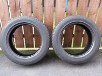 """2 x 225 55 17"""" Part Worn Tyres ** £15 For The Two **"""