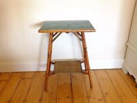 Antique bamboo tiled table