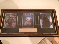 Vintage STAR Wars ROTJ Framed Film Cells