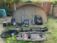 Carp fishing setup.... fox... Nash.... tracker