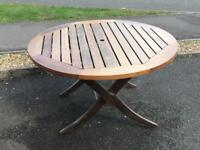 Wooden outdoor/garden table