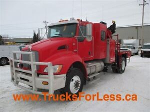 2012 Kenworth T370 4X4, PICKER + SERVICE DECK!!!