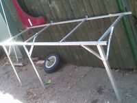 green house bench, wall mounted, aluminium no top