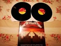 MEGA RARE METALLICA DOUBLE LP, MASTER OF PUPPETS