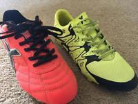2 X Pairs Of Junior Football Boots - Size UK Junior 5 - Adidas & X-Blade