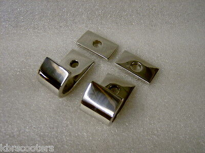 LAMBRETTA  SERIES 3 STAND BRACKETS AND PLATES IN STAINLESS STEEL LI/SX/GP