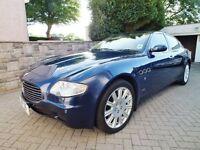 Maserati Quattroporte Ferrari Blue Cream leather & Walnut interior Previous Chauffeur wedding car
