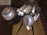 Ben Sayers Golf bag and Titleist/Mizuno clubs