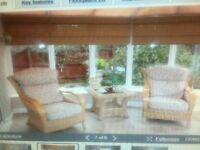 Conservatory set (2 chairs and table)