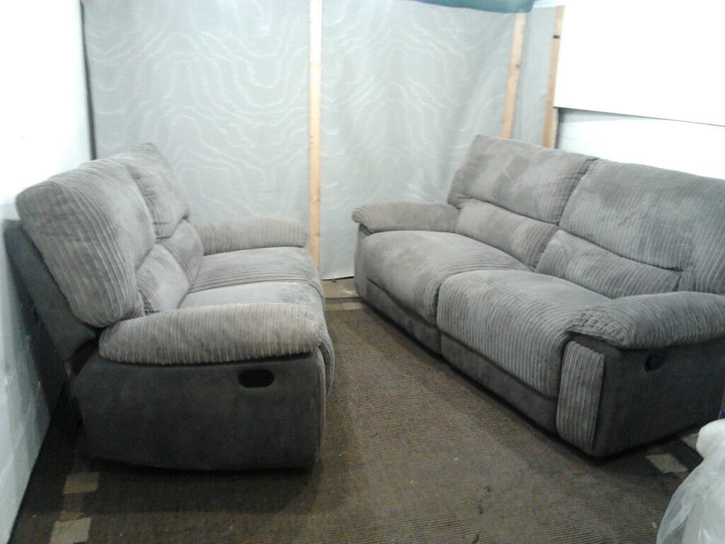 Harveys Reclining Fabric Sofas Ex Display