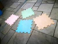 Safety mats 118 x 118. Used l faded. Various colours. As they are free you must take them all.