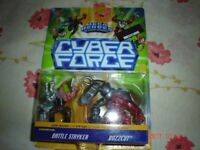 CYBER FORCE BATTLE STRYKER AND BUZZCUT LIMITED EDITION