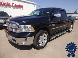 Black 2014 Ram 1500 Longhorn Limited 4WD Short Box, 43,621 KMs