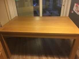 Beech veneer dining table