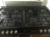 Bush dual fuel 8 ring double oven + grill
