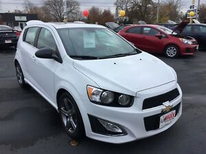 2013 CHEVROLET SONIC RS AUTO- SUNROOF, HEATED LEATHER SEATS, REM Windsor Region Ontario image 7