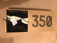 Yeezy 350 V2 Black/Red UK 8.5