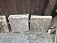 21 Buff coloured patio slabs 450x450