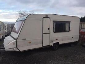 1995 adria optima lux elddis swift abi 5 berth caravan CAN DELIVER must clear