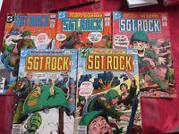 5 SGT. Rock DC comics issue nos. 332, 338, 349, 366, 368