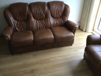 Immaculate 3 Piece Leather Suite