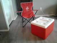 camp chair.And cooler