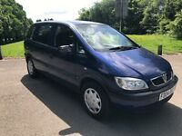 Vauxhall Zafira 1.8i Life 7 seater in Blue 2004 Part EX to Clear