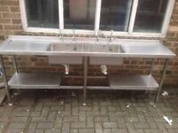 Stainless Steel Double Sink With Taps Very Good Condition ,2 Available Buyer To Collect