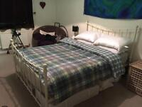 SOLD Laura Ashley Metal Frame Double Bed and Mattress