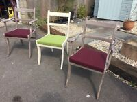 Laura Ashley distressed chairs