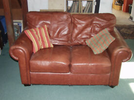 Sofa / Couch 2 seat. Italian leather.