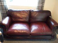 Thomas Lloyd Oxblood Red Sofa