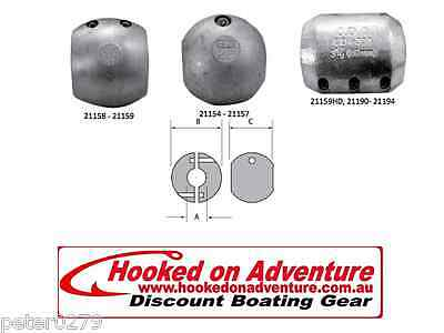 Zinc Shaft & Donut Anodes Multiple Types Available 19mm shaft PH HOA21154
