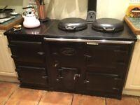 AGA - full size 4 ovens, 2 hobs.