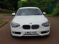 2012, BMW 1 SERIES 1.6 116D EFFICIENTDYNAMICS 5d 114 BHP*** ZERO ROAD TAX**FULL SERVICE RECORD