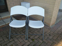 2 Lifetime Utility Folding Chairs