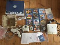 Boxed Sega dreamcast bundle with 10 games