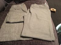 2 pairs of grey trosours