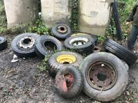 Farm tractor / trailer wheels / tyres