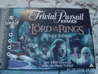 Brand new L.O.T.R. Trivial Pursuit dvd and game
