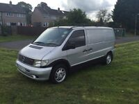 Diesel Mercedes Vito day van Camper with full rock &roll bed 5 seats & belts ,Motor home on V5