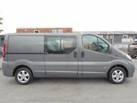 FINANCE ME!! NO VAT!! Stunning Vauxhall Vivaro lwb facorty six seat crew van with only 68k from new!