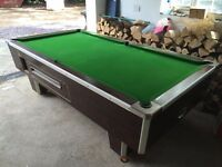 8 Foot Slate Bed Pub Style Snooker/Pool Table - Offers Welcome