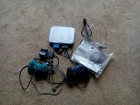 Playstation 1 Games console and 2 controllers with leads