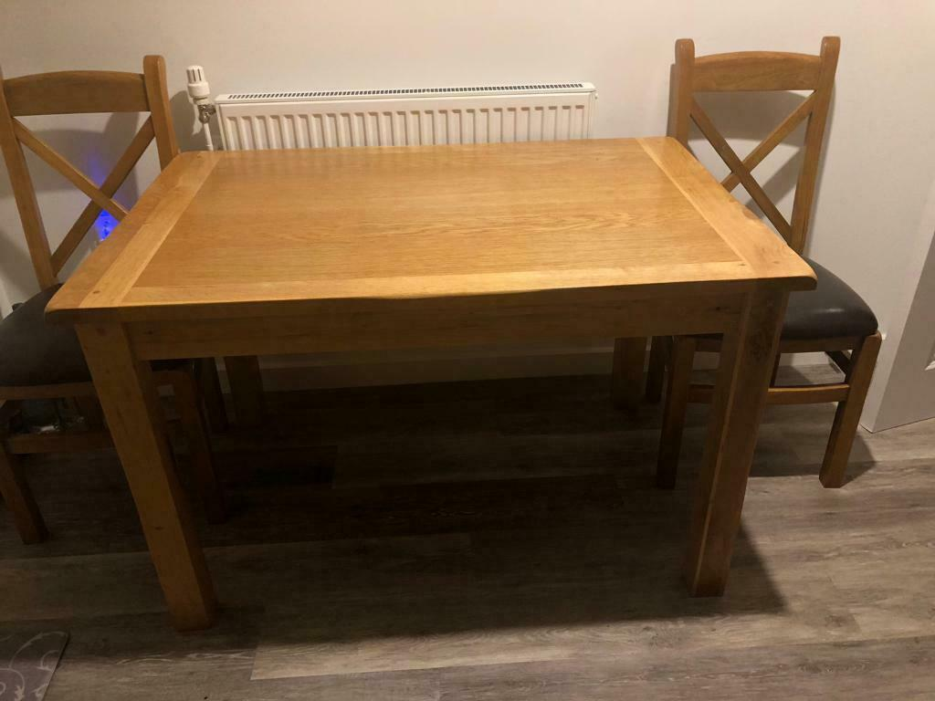 Solid oak kitchen table | in Pontypool, Torfaen | Gumtree