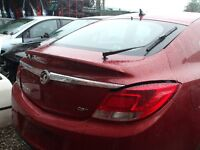 VAUXHALL INSIGNIA TAILGATE / BOOT INC GLASS BERG/RED USED